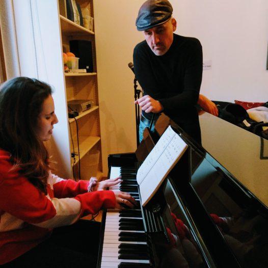 Je chante au piano